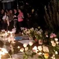 El sentido homenaje a Yuliana, frente al edificio donde la encontraron