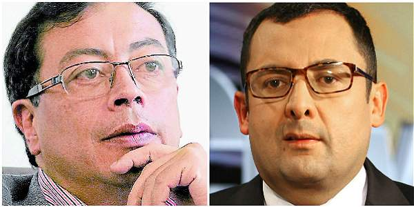 Gustavo Petro Urrego, ex alcalde de Bogotá y Juan Carlos Granados Becerra, Contralor distrital.