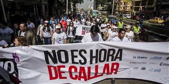 Marcha en Bogotá por sobrevivientes y víctimas de violencia sexual