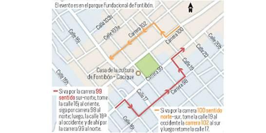 Los cierres viales en Fontibón por celebración de novena navideña