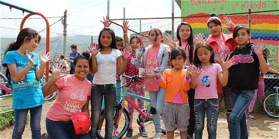 En Soacha se pedalea por un país de Niñas Sin Miedo