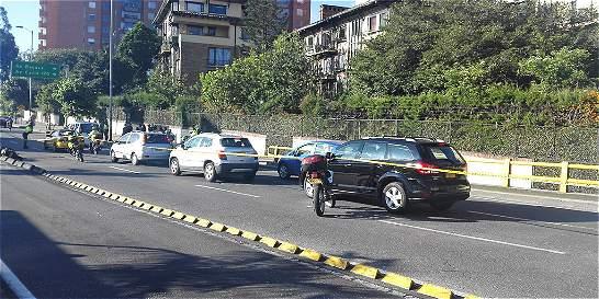 Tráfico lento en la avenida Suba tras accidente que deja un muerto