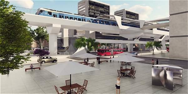 Imagen de cómo se vería la primera línea del Metro de Bogotá.