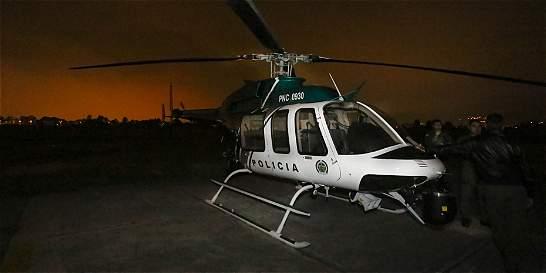 Helicóptero de la Policía atiende 4 casos por hora en Bogotá