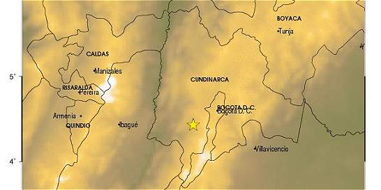 Sismo de magnitud 3,9 se registró en el municipio de Silvania