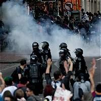 Van seis capturados tras disturbios en alrededores de la Santamaría
