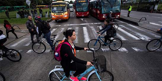 La esencia del día sin carro en Bogotá