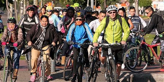 Más de un millón de bogotanos montaron 'bici' en la mañana del jueves