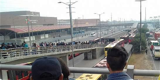 Levantan bloqueos en TransMilenio de Soacha, tras cinco horas