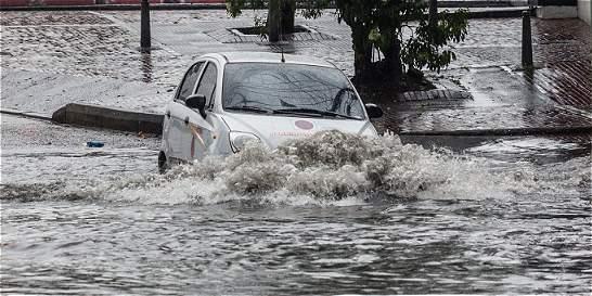 Inundaciones en Bogotá por fuerte aguacero