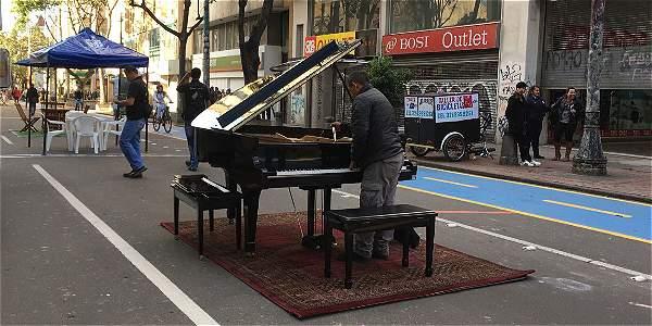 El piano de la Séptima que cualquier ciudadano puede tocar