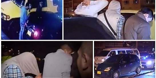 'Rompevidrios' grabados en video caen luego de persecución de taxistas