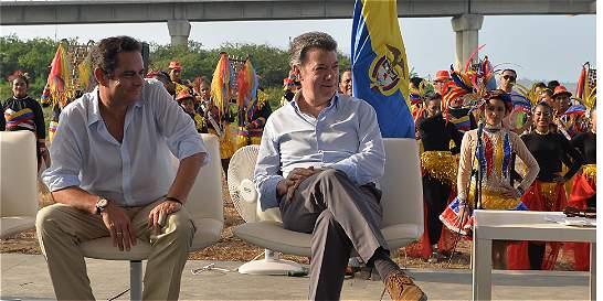 'El puente ahora sí se llamará Pumarejo': Juan Manuel Santos