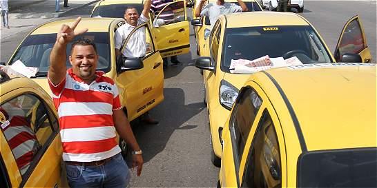 Taxistas de Barranquilla alzaron la voz en la calle