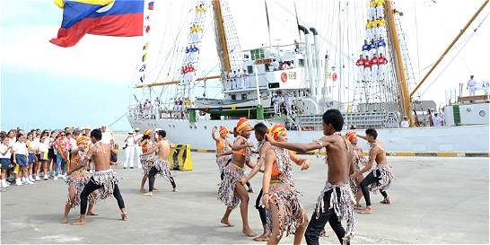 Después de 3 años regresó el buque Gloria a Barranquilla