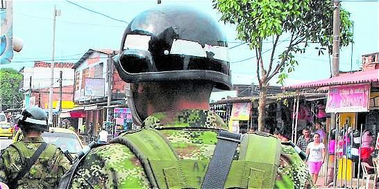 Soldados, a servir en el suroriente de Barranquilla