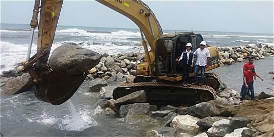 Buscan frenar erosión en vía Barranquilla-Ciénaga