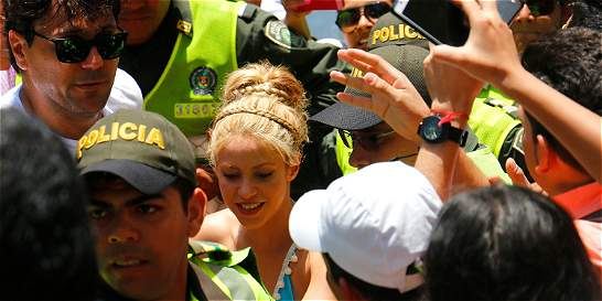 Shakira paraliza el norte de Barranquilla