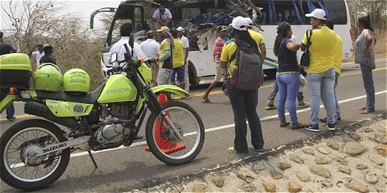 17 heridos deja accidente de transito en Soledad