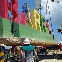 Letrero de 'bienvenida' a Barranquilla fue movido