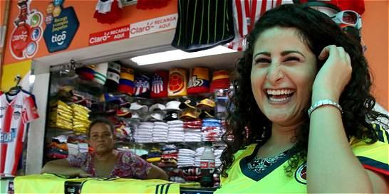 Tarde cívica y de fiesta en Barranquilla por partido Colombia-Uruguay