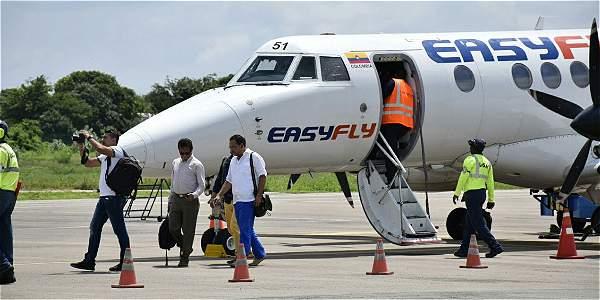 En aviones Jet Stream 41 con capacidad para 30 pasajeros, la empresa Easyfly esta conectado capitales costeñas.