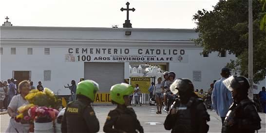 Hasta con helicóptero custodiaron sepelio de menor en Barranquilla