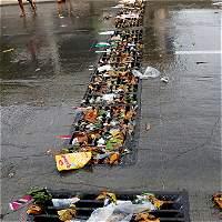 Colapso de las rejillas del arroyo de la calle 84 preocupa