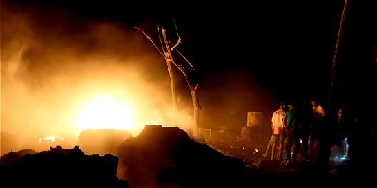 Incendio causa pánico en barrio de Barranquilla