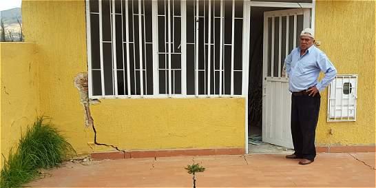 Barrio de Sogamoso, en peligro por fisuras
