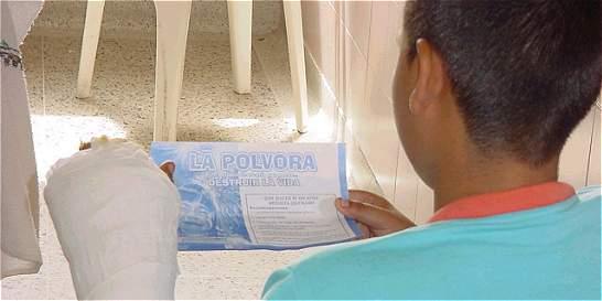 Ya van seis quemados con pólvora en Boyacá