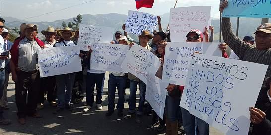 Protestas múltiples, en la provincia de Sugamuxi