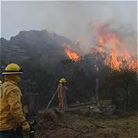 Fuera de control se encuentra incendio forestal en Ráquira, Boyacá