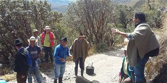 Campesinos bloquearon las entradas al nevado del Cocuy