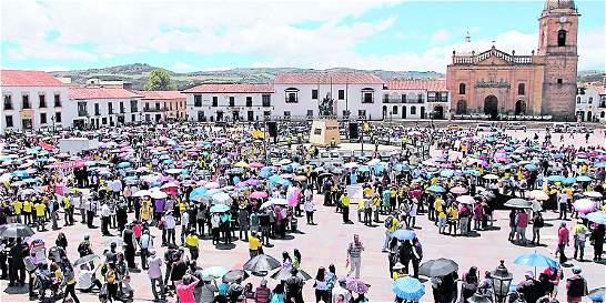 Boyacá alza la voz contra el gobierno Santos