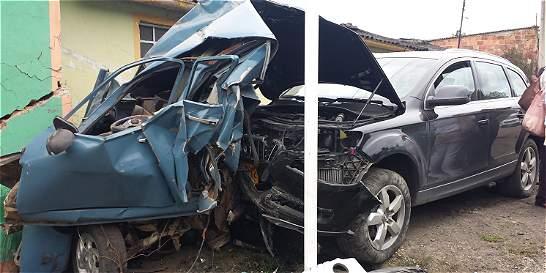 Camioneta ocasionó accidente en Ventaquemada