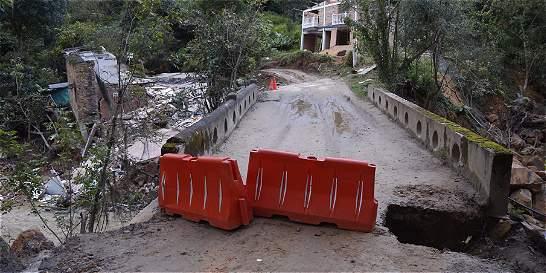 Puente Sisa, cerrado 20 días