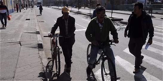 Hoy día sin carro y sin moto en Duitama