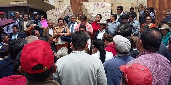 Habitantes de Duitama hicieron cacerolazo contra empresa de acueducto