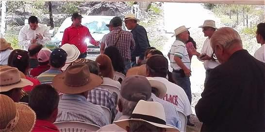 En Villa de Leyva impidieron construcción de proyecto de tierras