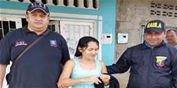 Fue legalizada la captura de la delincuente y se le formuló imputación por el delito de extorsión.
