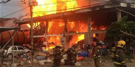 Ya son seis las víctimas por explosión e incendio en Cali