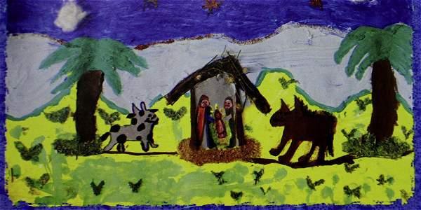 Tarjetas de navidad hechas por ni os ciegos y sordos - Postales de navidad hechas por ninos ...