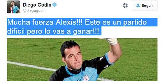 Mensajes de Diego Godín y Luis Suárez con aliento para Alexis Viera