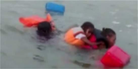 Rescatan a una niña y tres adultos en el mar de Buenaventura