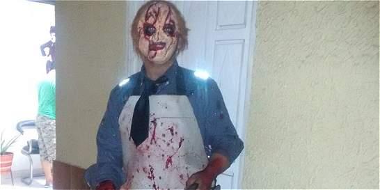 Pánico en el día de Halloween por hombre que recreó película de terror