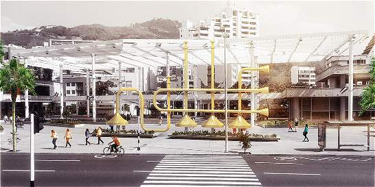 El encargado de la escultura en homenaje a Jairo Varela es arquitecto