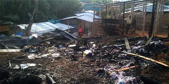 En Santander de Quilichao atribuyen a pólvora incendio de 3 viviendas