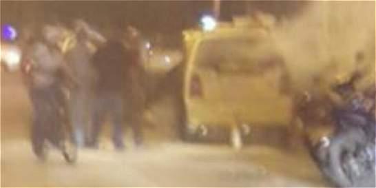 Susto por estallido de pólvora en un taxi en el norte de Cali