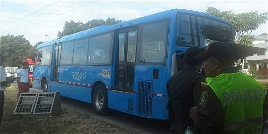 Susto por emanación de humo en bus del sistema MÍO